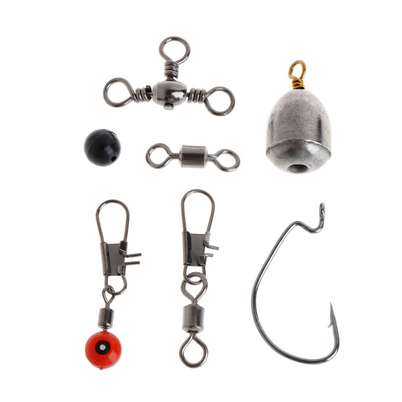 Image 4 - 1 Set Fishing Tackle Hook Swivel Sinker Lead Accessories Terminal Jigging Beans-in Fishing Tools from Sports & Entertainment