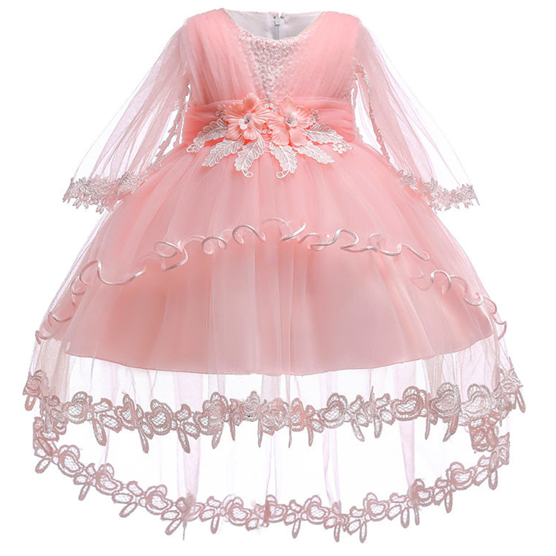 New infant baby girls dress 2018 summer Lace floral Baptism Dresses for Girls 1st year birthday party wedding baby clothes tulle ...