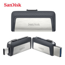 SanDisk Type-C USB 3.1 Dual interface OTG Pen Drive 128GB 64GB 32GB 16GB Ultra Dual Drive USB 3.1 Type-C Read Speed up to 130M/s