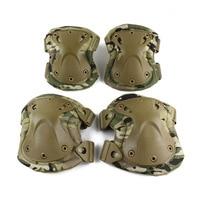 Askeri Taktik paintball koruma diz yastıkları ve dirsek pedleri set açık spor Airsoft Avcılık Ekipmanları
