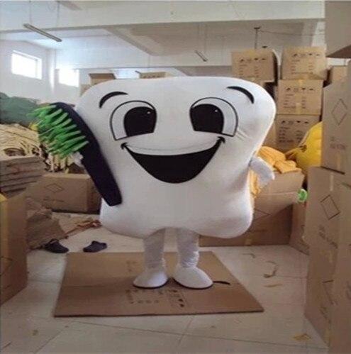 Dent mascotte Costume docteur des dents fête soins dentaires personnage mascotte robe & parc d'attractions tenue santé éducation - 6