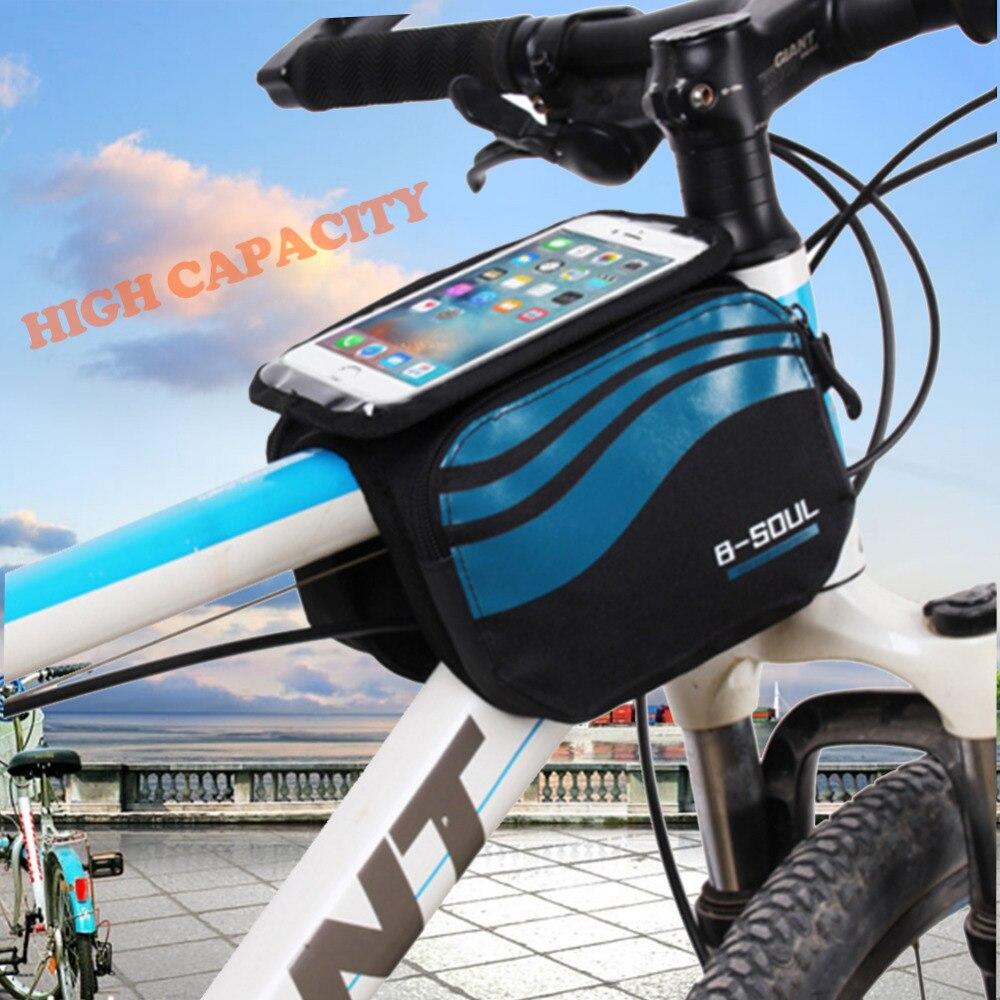 1.2L Велоспорт Сумка Велосипедов Верхней Трубы Треугольник Передняя Saddle Bag Рамка Мешок Раме Велосипеда Мешок Велосипеда Сумки и Корзины