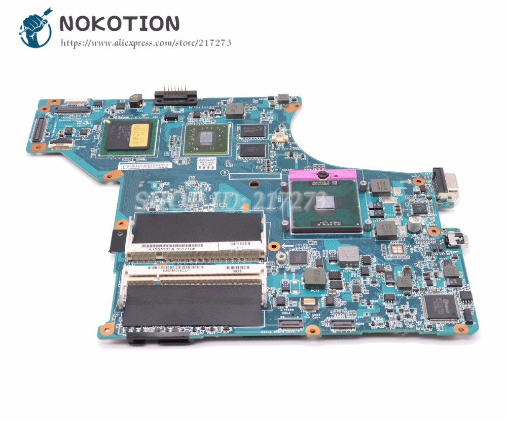NOKOTION For Sony vaio VGN-SR Laptop motherboard A1555331A A1703240A MBX-190 1P-0084100-A011 Main Board Free CPU sheli mbx 165 laptop motherboard for sony mbx 165 ms91 a1369748b 1p 0076500 8010 for intel cpu with non integrated graphics card