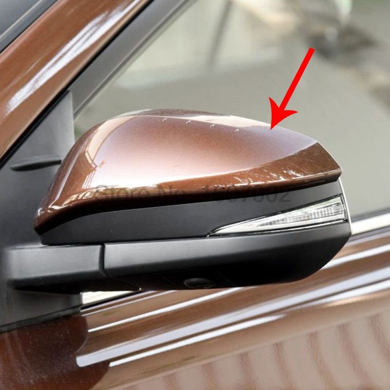 For Toyota RAV4 2016 2pcs Chrome Car Exterior Side Door Rearview Mirror Cover Trim Molding Protectors Car Accessories