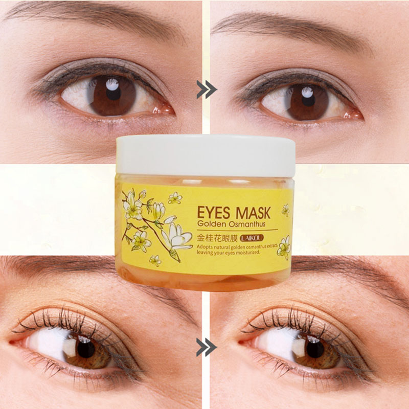 Eye Mask patches Gold Osmanthus Eye mask Facial care collagen Hyaluronic acid Whey protein Dark circles Eye bags Moisturizing