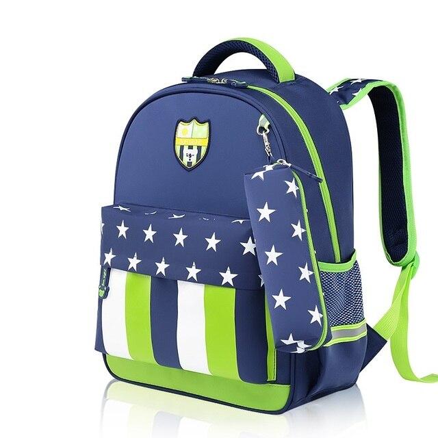 b06fc58ed Waterprtoof nylon listrado crianças escola bag crianças mochila mochila  escolar infantil feminina masculina para os meninos