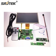 Srjtek7″ inch LCD Panel Digital LCD Screen + Touch screen and Drive Board(HDMI+VGA+2AV) for Raspberry PI Pcduino Cubieboard