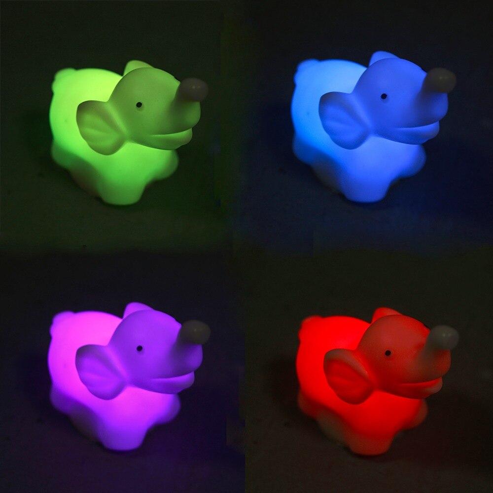 1 шт. 7 изменение цвета слон из светодиодов ночной свет лампы с батареей ну вечеринку декор