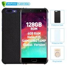 Ulefone T1 premium edition телефон смартфон телефоны смартфоны 6 ГБ + 128 ГБ 5.5 «FHD helio P25 Octa Core мобильный телефон Android 7.0 Сканер отпечатков пальцев 4G Глобальная Версия Смартфон