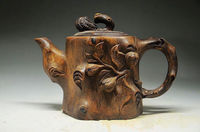 16.5 cm * / COLLECTING CHINESE ROCK STONE HAND CARVED TEAPOT