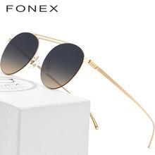 370dc85fa Polarizada Óculos De Sol Dos Homens 2018 Marca Famosa Designer de Nylon Luz  Ultra Screwless Eyewear Espelho Retro Rodada Óculos .
