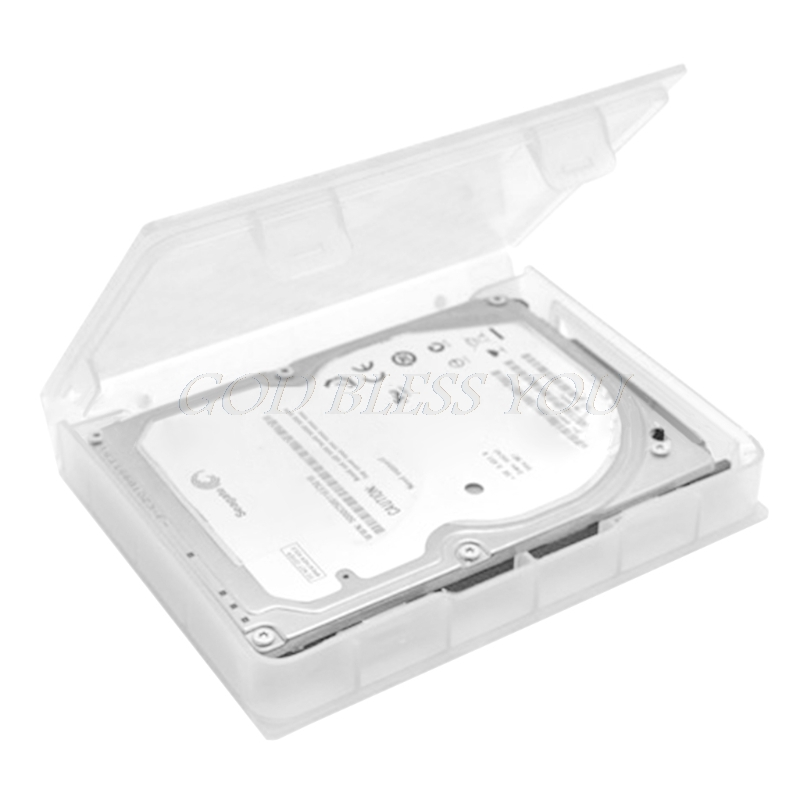 2.5 Inch Hard Disk Drive SSD HDD Protection Storage Box Case Clear PP Plastic