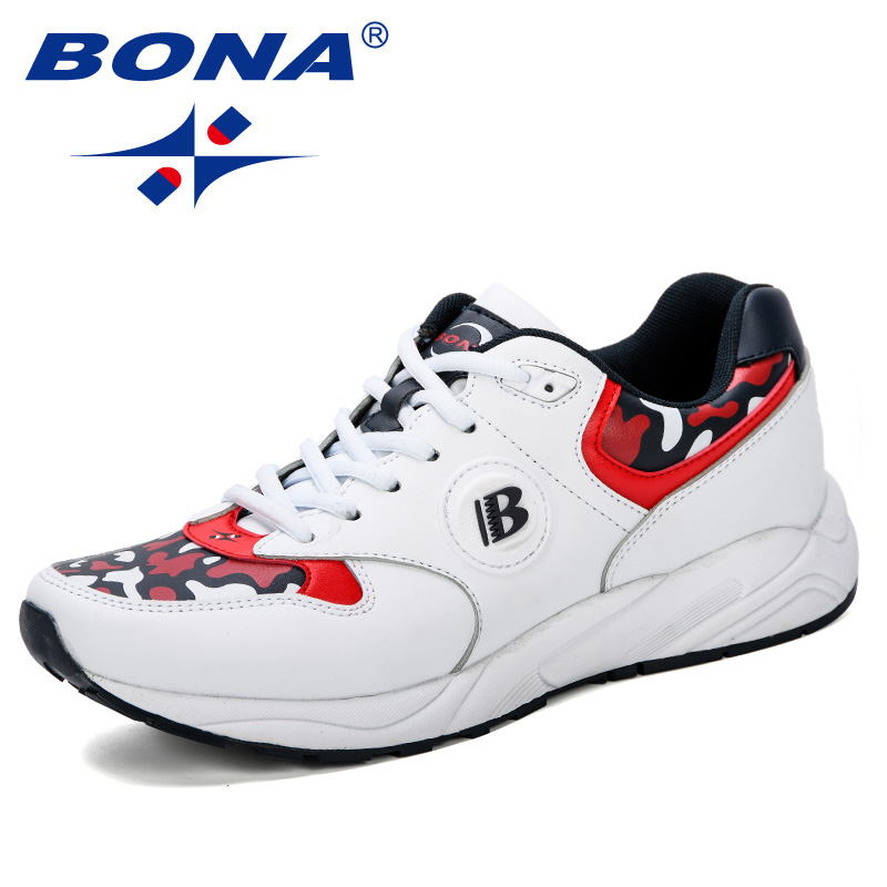 BONA 2019 New Fashion Sneakers Spring Autumn Casual Student Outdoor Trend Skateboarding Shoes Track Field Walking