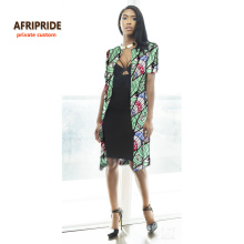 2017Latest african women coat jacket long coat for femme short sleeve casual loose clothes bazin riche dashiki plus size A722403