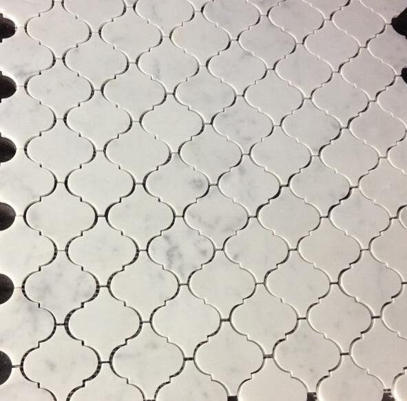 22 pies cuadrados de lujo carrarra m rmol blanco azulejos for Azulejos de marmol