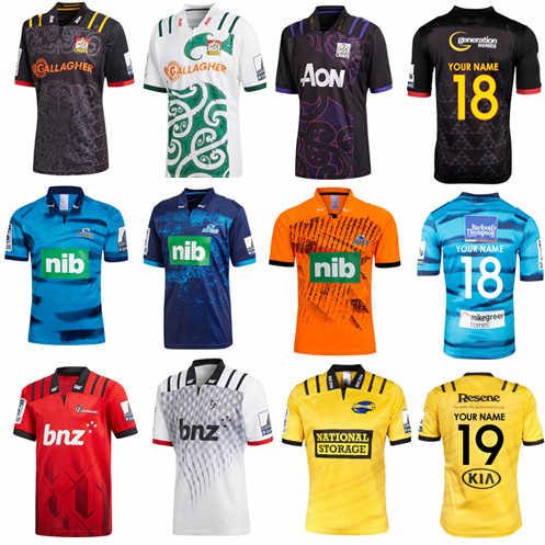f814c196bc5 2019 New Zealand Super rugby Jerseys Chiefs Rugby Highlanders Super Rugby  Blues Away hurricanes training jersey