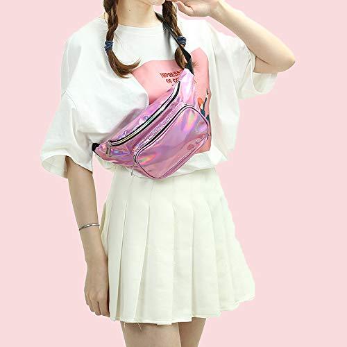 Fanny-Bag Hologram Rainbow Waist-Pack Travel Women for Festival Fashion Neon
