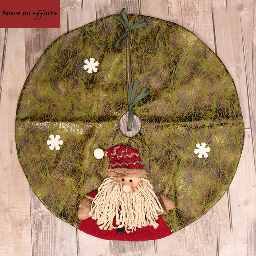 Large artificial cloth craft christmas tree skirt cm d