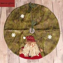 Большой искусственные ткани Craft Новогодние товары Дерево юбка 60 см 3D Новогодние товары елка орнамент Новогодние товары Аксессуары для дома на открытом воздухе