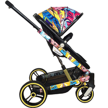 High Landscape Baby Stroller Lightweight Baby Carriage Pram Can Sit Recline Foldle Four Wheel Shock Absorber Fast Delivery quinny buzz xtra high landscape folding three wheeled shock absorber baby pram