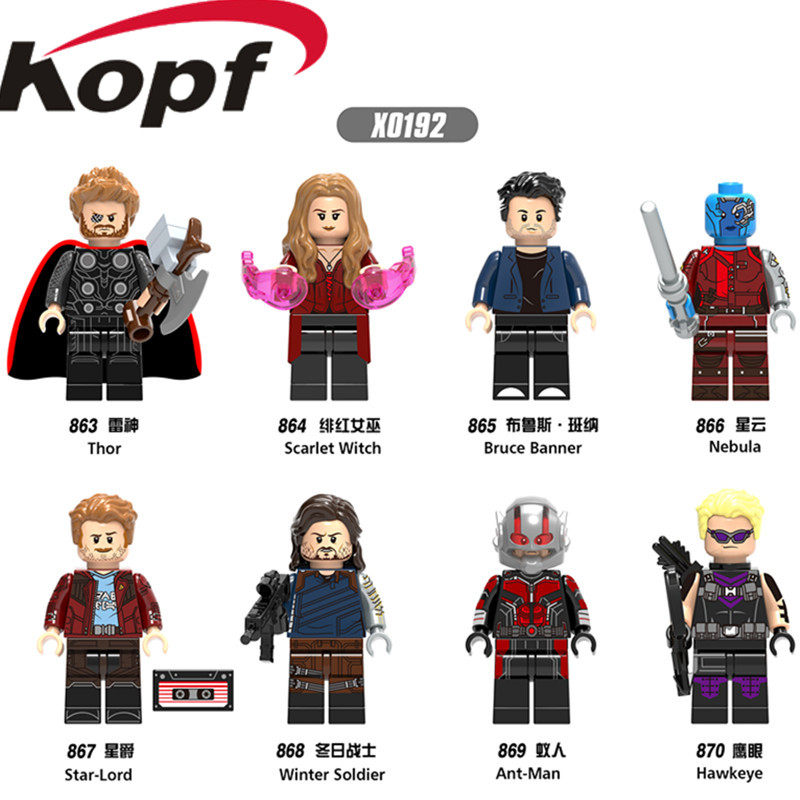 Single Sale Super Heroes Infinity War Thor Ant-Man Winter Soldier Bruce Banner Scarlet Witch Building Blocks Children Toys X0192 single sale pirate suit batman bruce wayne classic tv batcave super heroes minifigures model building blocks kids toys gifts