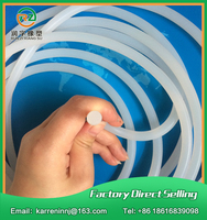 10meters Diamter 3mm Silicone Rubber Cord Lighting Sealing Rubber Cord Industrial Sealing Strip Milky White Silicone