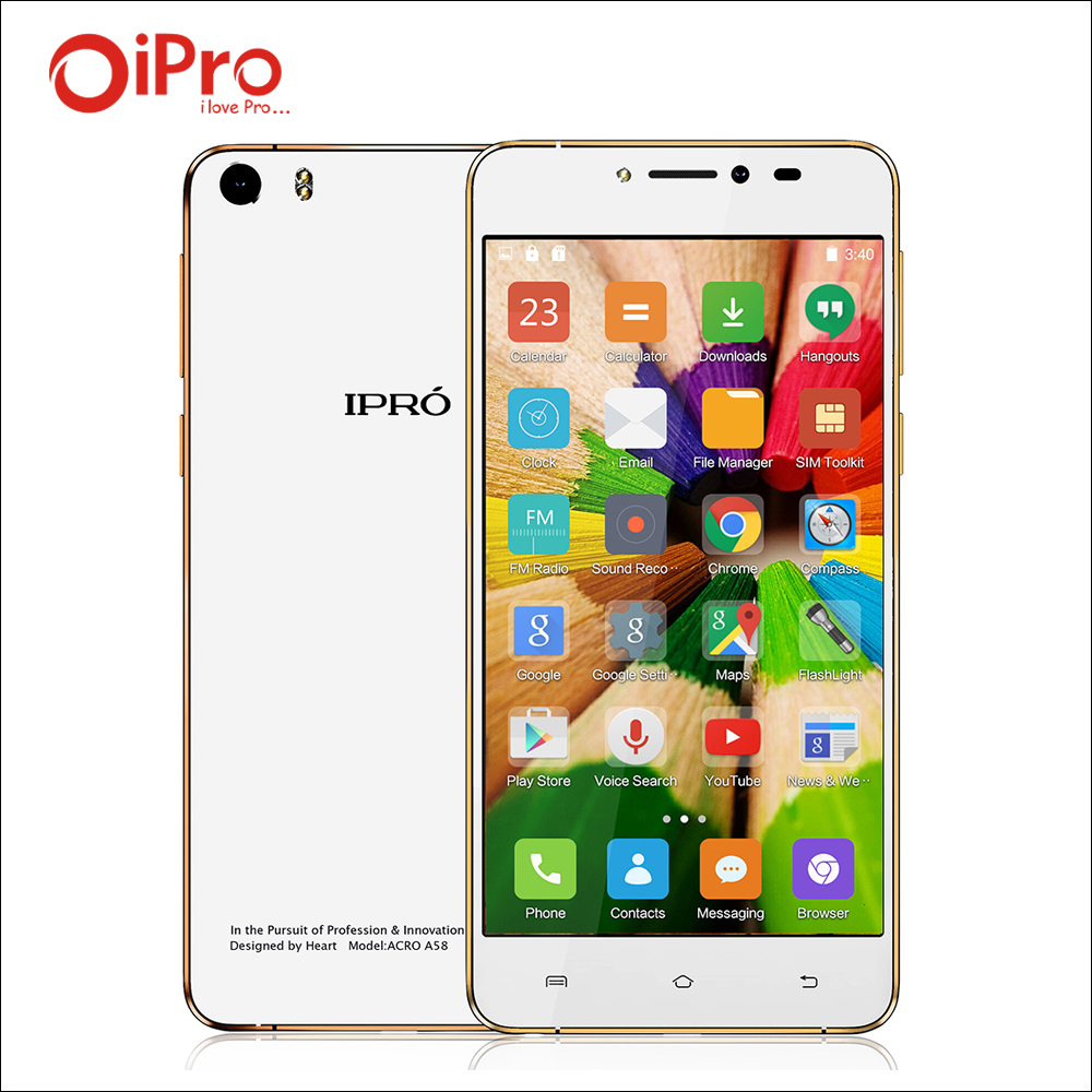 IPRO A58 5 85mm Ultra thin Mobile Phone 5 0inch MTK6582 Celular Android 5 0 font
