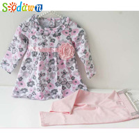 Baby Girl Floral Clothes Set Newborn Toddler Cotton Suit Kids Girl Outfits Spring Tracksuit Infant Clothing