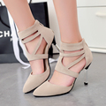 New women sexy prom shoes high heels wedding pumps women pointed toe ankle strap red stilletos shoes for women black pumps shoes