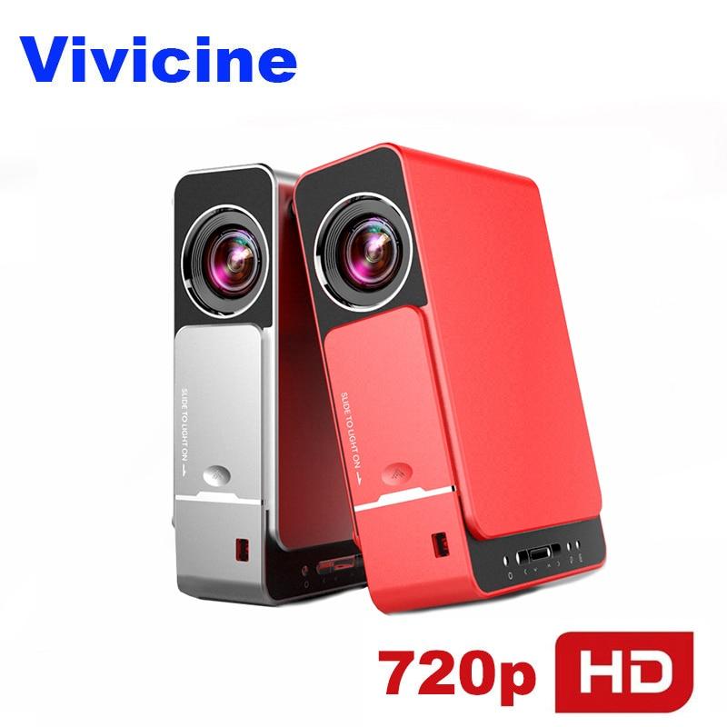 VIVICINE 1280x720p projecteur Portable HD, Option Android 7.1 HDMI USB 1080p Home cinéma Proyector WIFI Mini projecteur Led