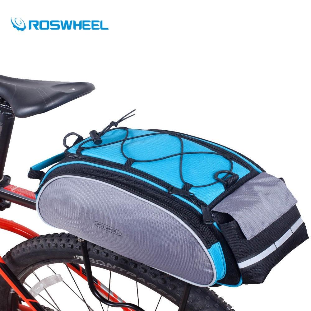 Roswheel Belakang Jok Sepeda Tas Ransel Koper Bahu Sadel Waterproof With Backlight Lampu Rem Malam 13l Bagasi Mtb Jalan Aksesoris Kembali Kursi Pembawa Reflektif Multifungsi Rak