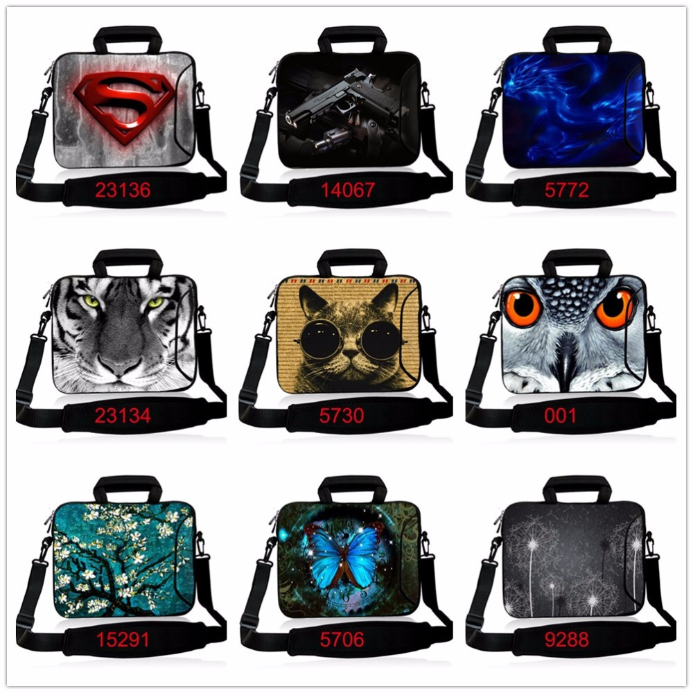 10 12 13.3 14.4 15.6 17 Inch Neoprene Laptop Shoulder Bag Notebook PC Protective Case Pouch Cover For Macbook Air Pro Dell Asus