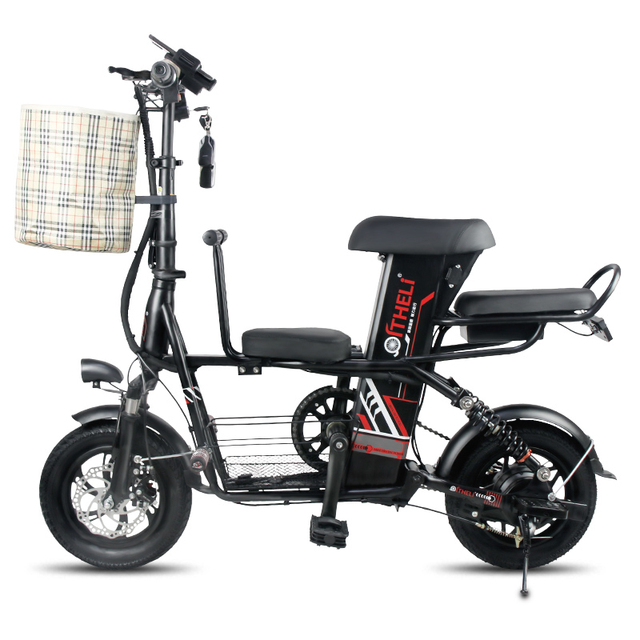 12 Inch Electric Bike Folding Pa Child Bicycle Battery Detachable Generation Drive