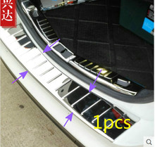 OUTER rear bumper guard plate trim 1pcs For Fusion Mondeo 2013 2014
