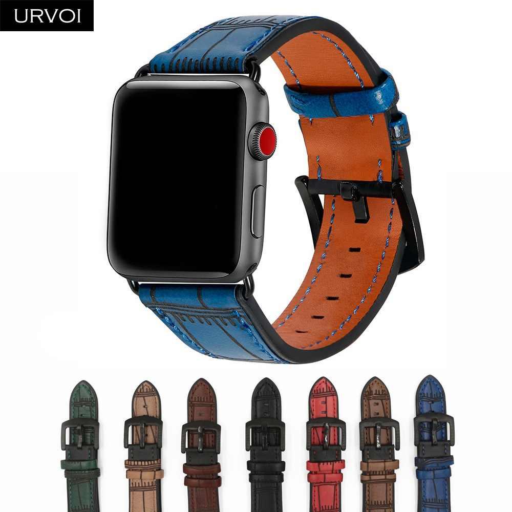 93cbb64c4ff3 URVOI ремешок для apple watch ремень серии 3 2 1 прочный мягкая натуральная  кожа для iwatch