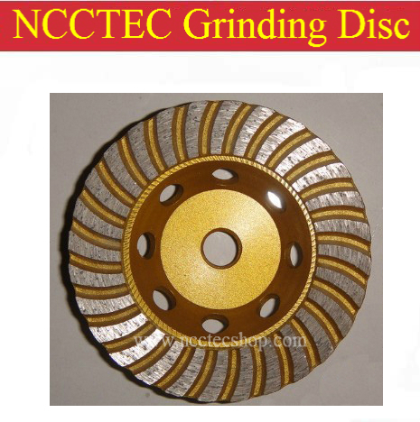 4'' NCCTEC Diamond Turbo grinding DISC for Brazil | 95mm Concrete granite floor grind CUP wheel | Hot press Sintered M14 thread