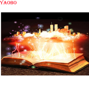 city 5D DIY Diamond painting Fantsay Book Cross stitch Full Square Round drill Diamond embroidery magic view mosaic Home decor image