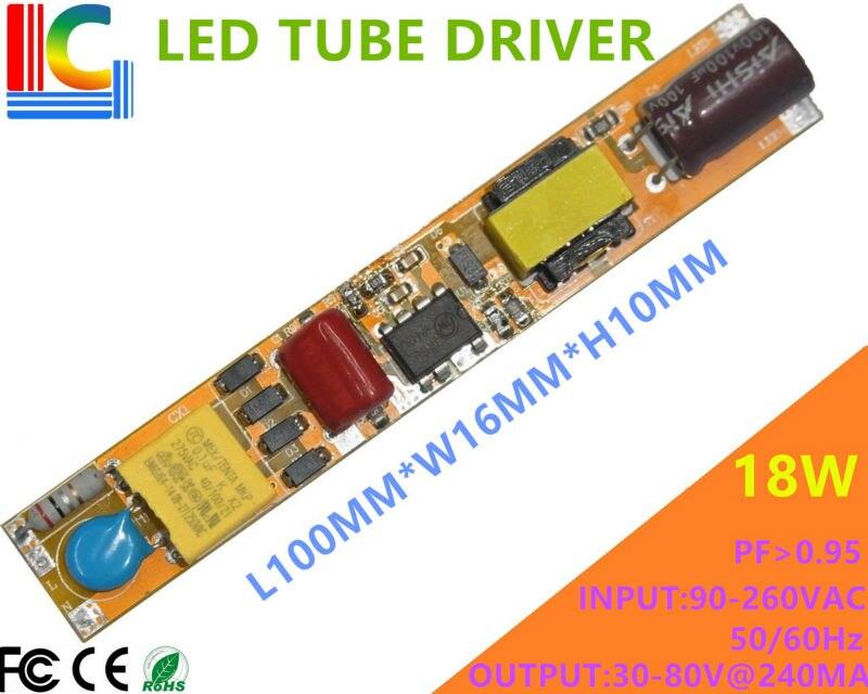 Freeshipping 9W 12W 16W 18W LED Driver Non Isolation 110V