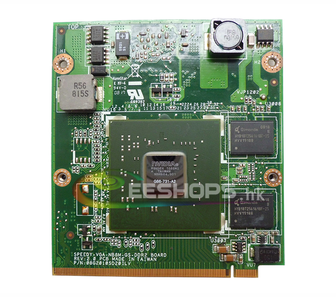 Improved Graphics Video Card for Lenovo IdeaPad Y510 Y510A Y530 F51 F51A V550 15303 Laptop NVIDIA GeForce 8400M GT G86-731-A2