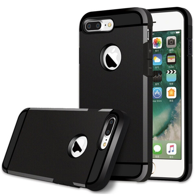 the best attitude 051b5 90c54 US $1.99 |For iPhone 7 Silicone Case Hybrid Tough Armor Rugged Silicone  Shockproof Phone Cases Covers for iPhone 6s 7 Plus 5s SE Capa-in Fitted  Cases ...
