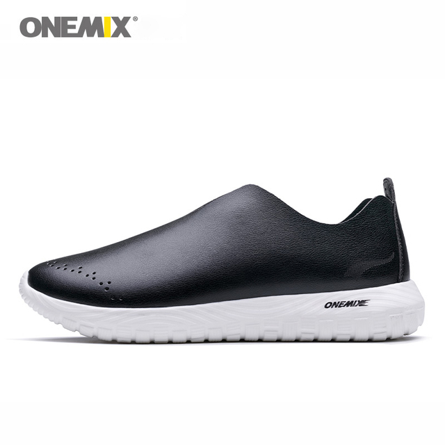 ONEMIX 2018 slip-on shoes soft deodorant insole moisture absorption pig leather light shoes women sneakers for outdoor walking