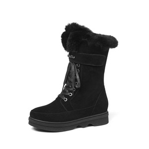 Image 5 - MORAZORA 2020 top quality suede leather ankle boots women zipper +lace up comfortable platform shoes ladies winter snow boots