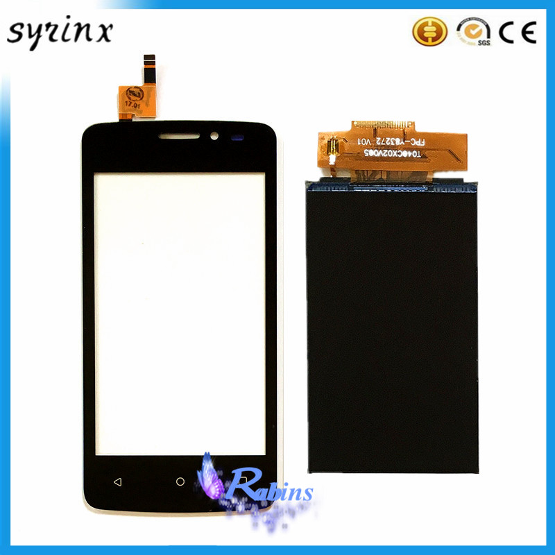 SYRINX 4.0'' Touch Screen LCD Display For FLY FS404 STRATUS 3 FS 404 Sensor Touchscreen Front Glass Panel Mobile Phone