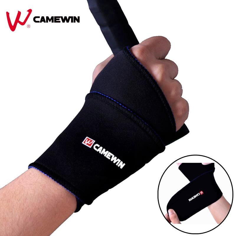 Prix pour 1 paire réglable support de poignet noir commune brace poignet protecteur camewin marques sport bracelet pour jeux de balle de remise en forme de course