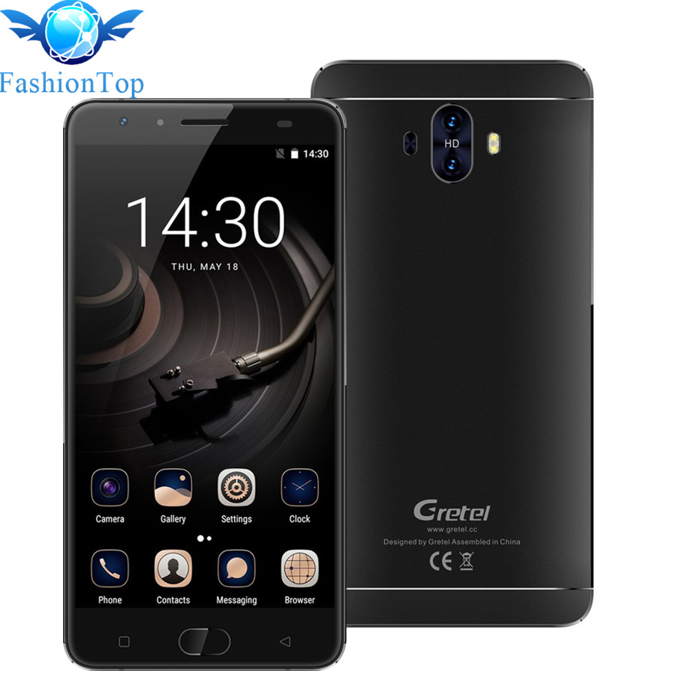 Gretel GT6000 6000mAh 5.5 inch Smartphone Android 7.0 MT6737 Quad Core 2G + 16G Quick Charge 13MP Fingerprint ID mobile phone