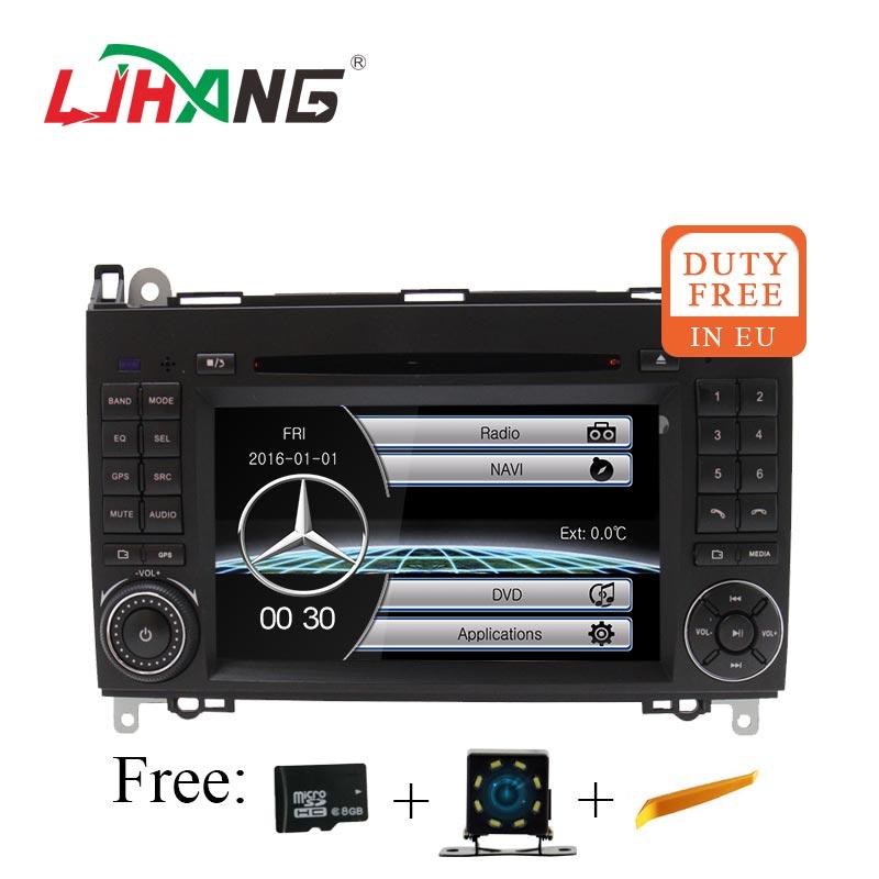 LJHANG 2 Din Auto Radio Car dvd GPS For Mercedes Benz B Class B200 W169 W245 W639 Viano Vito Sprinter B170 Headunit stereo Navi eunavi 2 din android 8 0 octa 8 core car dvd player for benz sprinter vito w169 w245 w469 w639 b200 radio stereo gps wifi 4g ram