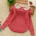 2-6A meninas computador de malha blusas de primavera-outono 100-140 cm meninas malhas jersey crianças casaco meninas roupas