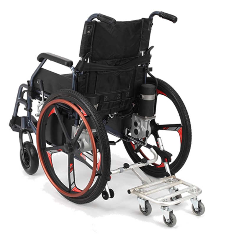 Foldable aluminum alloy wheelchair four wheel station people trailer