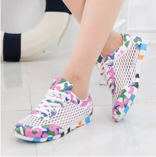 2015 New Breathable Mesh Shoes Girls Fashion Camouflage Canvas Shoes