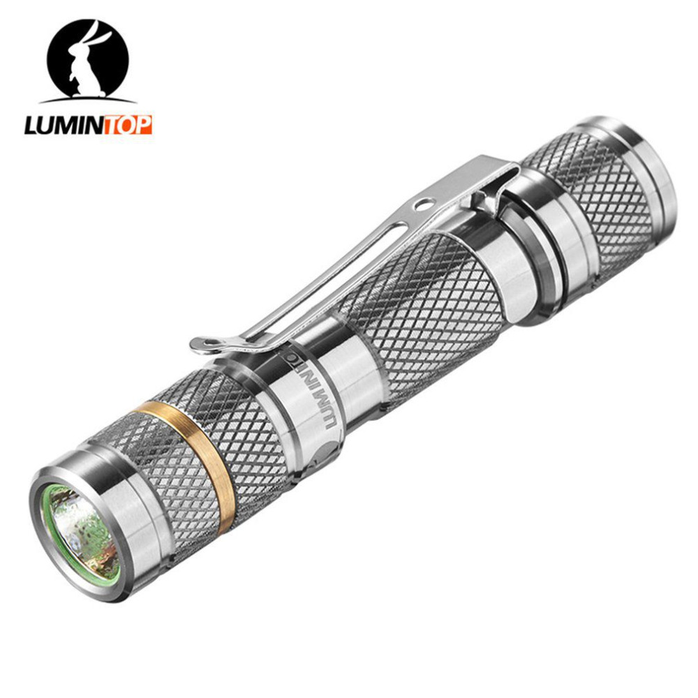 купить LUMINTOP Tool Ti Titanium 110LM AAA LED Waterproof Flashlight for Cree XP-G2 R5 with Detachable & Reversible Clip Free Shipping недорого